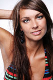 Voluptuous woman in bikini. Attractive young voluptuous woman in bikini Royalty Free Stock Photography