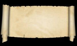 Voluta antigua del pergamino en fondo negro stock de ilustración