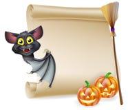 Voluta de Halloween con el espacio ilustración del vector