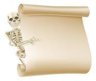 Voluta del esqueleto de Halloween stock de ilustración