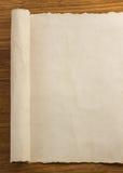 Voluta del pergamino en la madera Imagen de archivo