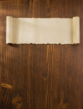 Voluta del pergamino en la madera Fotos de archivo libres de regalías