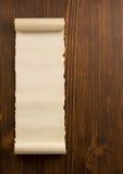 Voluta del pergamino en la madera Imágenes de archivo libres de regalías