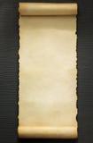 Voluta del pergamino en la madera Fotografía de archivo libre de regalías