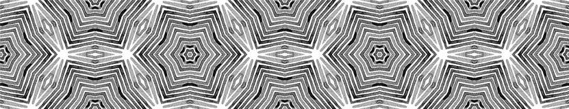 Voluta inconsútil blanco y negro de la frontera geométrico fotografía de archivo libre de regalías