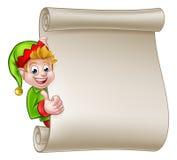 Voluta Santa Helper Elf de la Navidad Foto de archivo libre de regalías