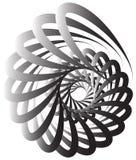 Voluta a spirale, forma della lumaca, elemento Rotazione, volteggiante estratto Immagine Stock
