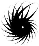 Voluta a spirale, forma della lumaca, elemento Rotazione, volteggiante estratto Immagini Stock Libere da Diritti