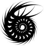 Voluta a spirale, forma della lumaca, elemento Rotazione, volteggiante estratto Fotografia Stock