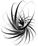 Voluta a spirale, forma della lumaca, elemento Rotazione, volteggiante estratto Fotografia Stock Libera da Diritti