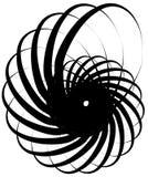 Voluta a spirale, forma della lumaca, elemento Rotazione, volteggiante estratto Fotografie Stock