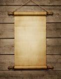 Voluta vieja del papel en blanco Fotos de archivo libres de regalías
