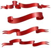 Volutas rojas Imágenes de archivo libres de regalías