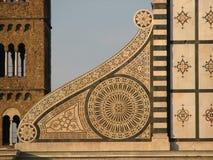 Volute av Santa Maria Novella, Firenze, Italien Arkivbilder