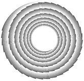Volute, helix element made of lines. Logarithmic spiral. Royalty Free Stock Photo