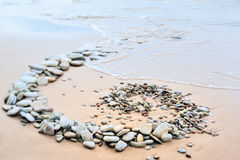 Volute of pebble Royalty Free Stock Photography