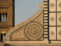 Volute of Santa Maria Novella, Firenze, Italy Stock Images