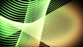 Volutes moving of green and orange lines. Against a black background stock video footage