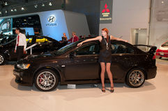 Évolution de Mitsubishi Lancer Images stock