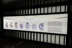 THE VOLUTION OF THE REAL MADRID SYMBOL Royalty Free Stock Images