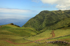 Volvanic Landscape At Sao Jorge, Azores Royalty Free Stock Photography