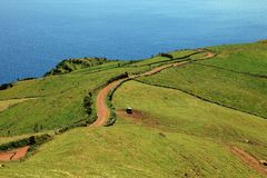 Volvanic landscape at Sao Jorge, Azores Royalty Free Stock Images