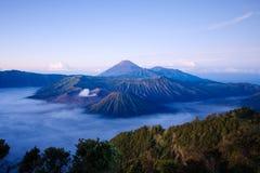 Volvano Bromo в Индонезии стоковые изображения rf