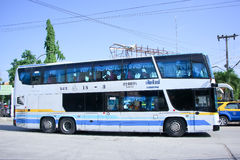 Volvo Bus of Newviriya Yarnyon tour bus Stock Photo