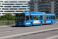 Volvo bus in Stockholm Stock Photography