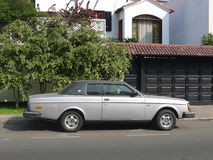 Volvo 262 c 2.7. Gray and black Volvo 262 coupe with a 2.7 L engine in San Isidro district of Lima, Peru royalty free stock photography