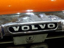 VOLVO car emblem and brand logo. KUALA LUMPUR, MALAYSIA -NOVEMBER 11, 2017: VOLVO car emblem and brand logo. Car build by one of the Swedish famous car royalty free stock photos