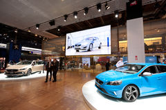 Volvo Cars stand at the Paris Motor Show 2012 Royalty Free Stock Photography