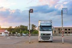 Volvo ciężka ciężarówka z przyczepą Fotografia Stock