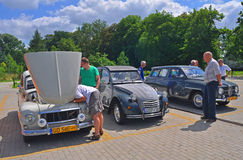 Volvo 544, Citroen 2CV i Saab 95, Zdjęcia Stock