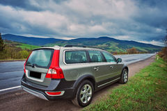 A Volvo Crossover. On the road Stock Photo