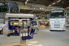 Volvo D13K540 Diesel Engine Displayed at Logistics Transport 201 Stock Image