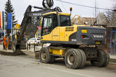 Volvo digger on duty Stock Image