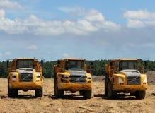 Volvo Dump trucks Royalty Free Stock Photos
