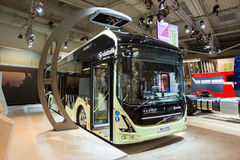 Volvo 7900 electric hybrid city bus Royalty Free Stock Image