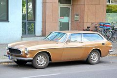 Volvo 1800ES. BERLIN, GERMANY - AUGUST 16, 2014: Retro vehicle Volvo 1800ES at the city street royalty free stock images