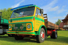 Volvo FB86 Tipper Truck Year 1972 on Display royalty free stock image