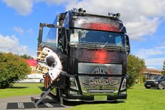 Volvo FH16 Ace of Spades Show Truck Royalty Free Stock Photos