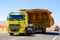 Volvo FH. ATACAMA, CHILE - NOVEMBER 18, 2015: Heavy trailer truck Volvo FH at the Pan-American Highway royalty free stock image