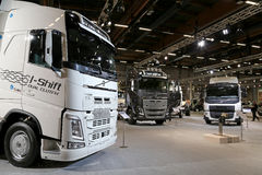 Volvo FH and FE trucks at Logistics Transport 2015 Royalty Free Stock Photos