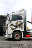 Volvo FH16 Logging Truck with Ponsse Scorpion Stock Photos