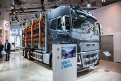 VOLVO FH16 logging truck Stock Photos