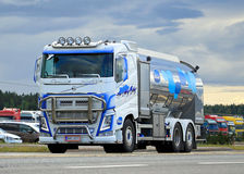 Volvo FH Milk Truck on the Road Royalty Free Stock Images