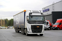 Volvo FH 500 Semi at Demo Drive Stock Photo