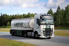 Volvo FH Semi Tank Truck on Motorway at Summer Stock Photos
