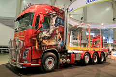 Volvo FH16 Show Truck with Airbrush Paintings Stock Photography